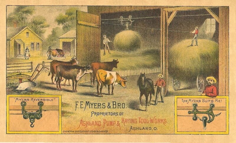 Myers haymow trade card